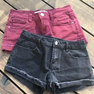 Pants - Black and Maroon Shorts Bundle